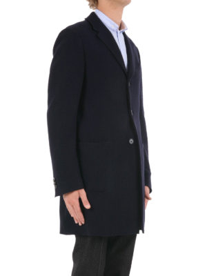 Z Zegna: knee length coats online - Tailored wool coat