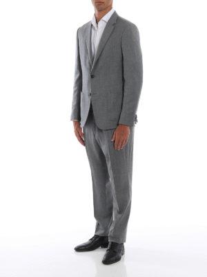 Z ZEGNA: completi da cerimonia online - Completo Turati in lana merino grigio chiaro