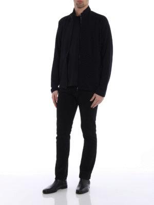 Z Zegna: Sweatshirts & Sweaters online - Dark blue wool sweatshirt
