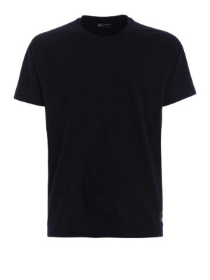 Z Zegna: t-shirts - Dark blue wool jersey T-shirt