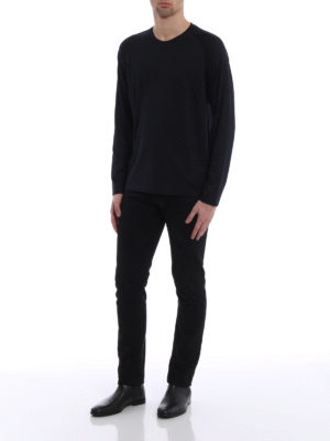 Z Zegna: t-shirts online - Wool jersey long sleeved T-shirt