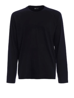 Z Zegna: t-shirts - Wool jersey long sleeved T-shirt