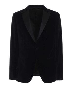 Z ZEGNA: giacche sartoriali - Giacca da smoking Turati in velluto nero