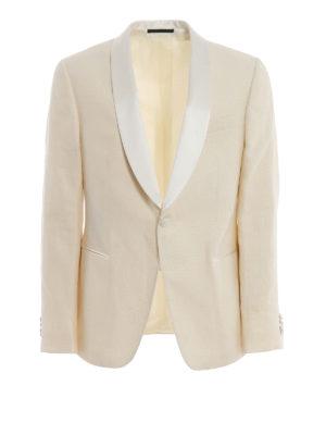 bafb7361642d Z ZEGNA  giacche sartoriali - Giacca bianca stile smoking in lino e lana