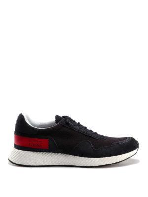 db5733448c4c Z ZEGNA  sneakers - Sneaker in pelle e tessuto blu