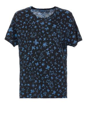 ZADIG&VOLTAIRE: t-shirts - Aria Pastel Cross cotton T-shirt