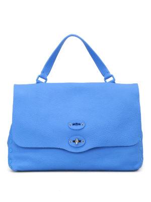 Zanellato: bowling bags - Burano blu Postina M Cashmere Pura