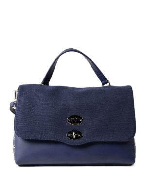 Zanellato: bowling bags - Denim Canvas Postina medium bag