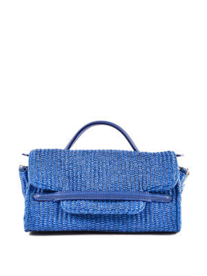 ZANELLATO: bauletti - Borsa Nina Baby Fiascaia blu