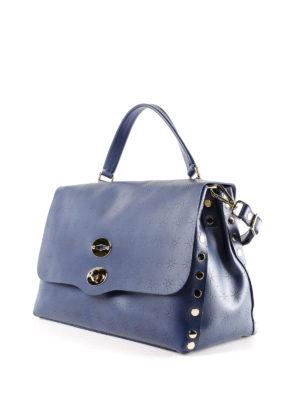 Zanellato: bowling bags online - Blue Astro Postina medium bag
