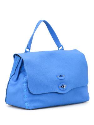 Zanellato: bowling bags online - Burano blu Postina M Cashmere Pura