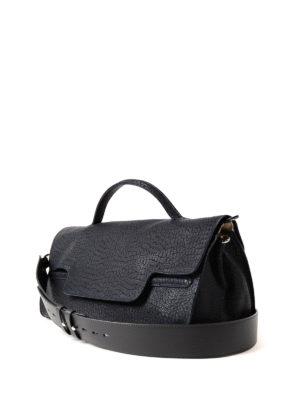 Zanellato: bowling bags online - Nina-Desert medium blue handbag