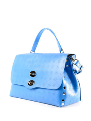 Zanellato: bowling bags online - Royal blue Astro Postina medium bag