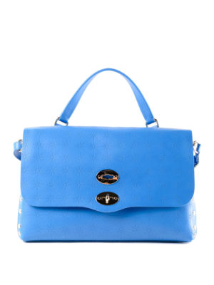 Zanellato: bowling bags - Royal blue Astro Postina medium bag