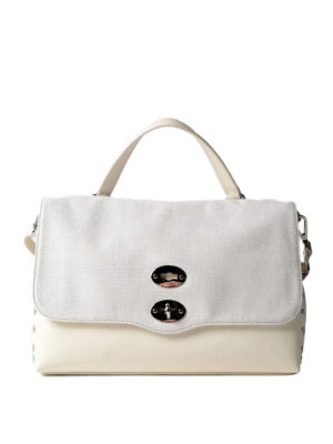 Zanellato: bowling bags - White Canvas Postina medium bag