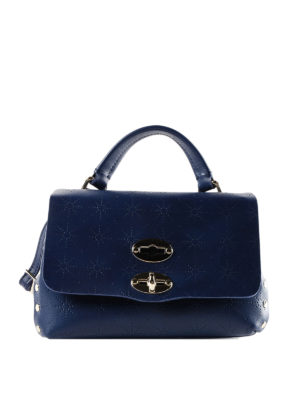 Zanellato: cross body bags - Blue Astro Postina baby bag