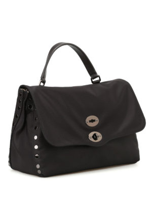 Zanellato: cross body bags online - Postina M Avana black nylon bag