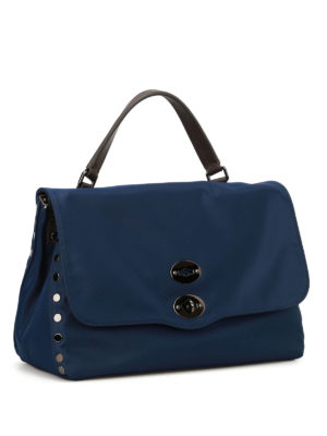 Zanellato: cross body bags online - Postina M Avana navy nylon bag