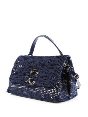 Zanellato: cross body bags online - Postina-Palamitara small blue bag