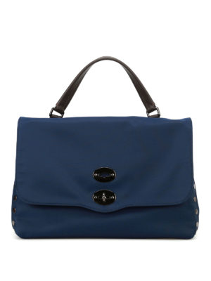 Zanellato: cross body bags - Postina M Avana navy nylon bag