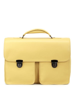 Zanellato Mestro Dollarone taupe briefcase OVvVlrolVV
