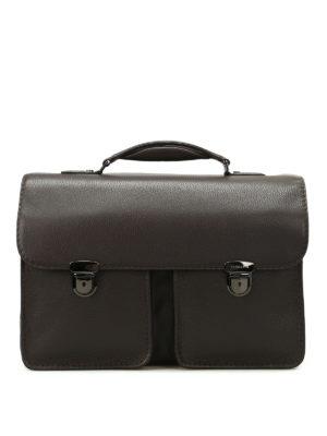 Zanellato: laptop bags & briefcases - Almirante Dollarone brown briefcase