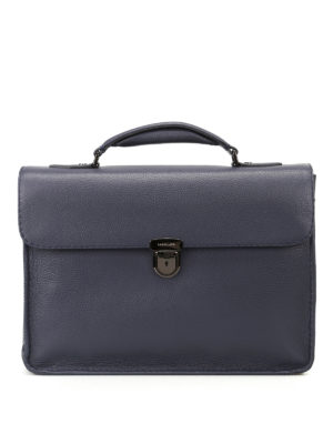 Zanellato: laptop bags & briefcases - Mestro Dollarone blue briefcase