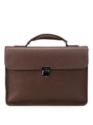 Zanellato Mestro Dollarone taupe briefcase QLe2ava
