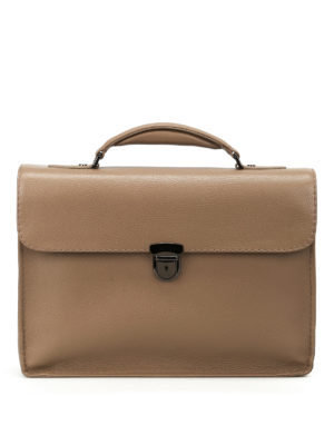 Zanellato: laptop bags & briefcases - Mestro Dollarone taupe briefcase