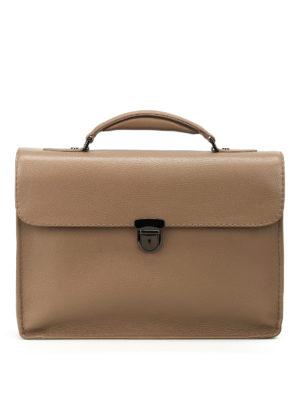 Zanellato: laptop bags & briefcases - Mestro Dollarone taupe briefcase
