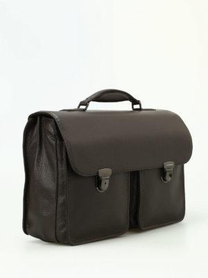 Zanellato: laptop bags & briefcases online - Almirante Dollarone brown briefcase