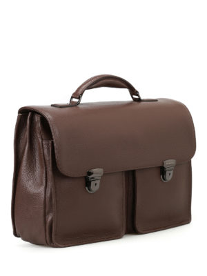 Zanellato: laptop bags & briefcases online - Almirante Dollarone brown briefcase
