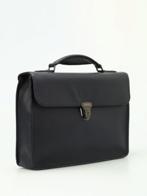 Zanellato: laptop bags & briefcases online - Mestro Dollarone blue briefcase