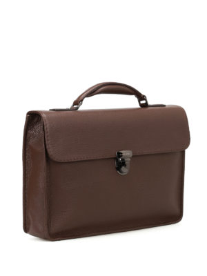 Zanellato: laptop bags & briefcases online - Mestro Dollarone brown briefcase