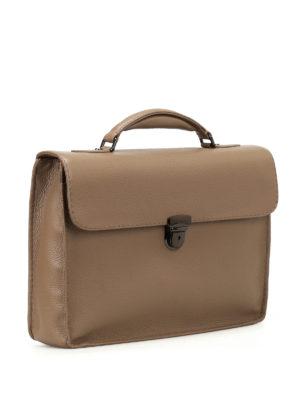 Zanellato: laptop bags & briefcases online - Mestro Dollarone taupe briefcase