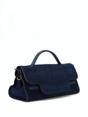 ZANELLATO: bauletti online - Borsa Nina Jones piccola in nabuk blu
