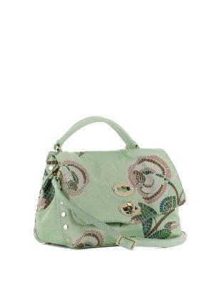 ZANELLATO: borse a tracolla online - Postina Baby stampata verde