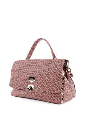 ZANELLATO: shopper online - Postina media Arché in pelle rosa bon ton