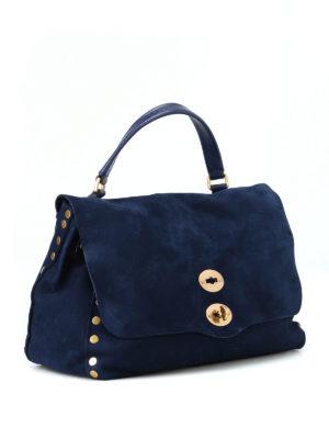 ZANELLATO: shopper online - Postina M Jones in nabuk blu