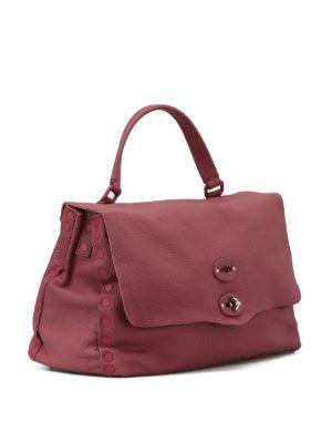 ZANELLATO: shopper online - Postina M Linea Pura in pelle rosa d'epoca