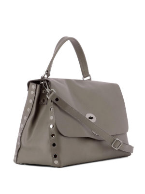 ZANELLATO: shopper online - Borsa Postina M Original Silk color metallo