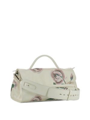 Zanellato: shoulder bags online - Nina S printed silk leather bag