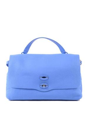 Zanellato: totes bags - Blue Cachemire Pura large Postina
