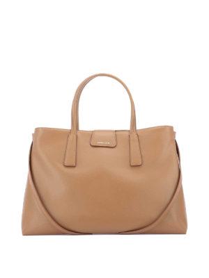 4ec6c29fb781 ZANELLATO  shopper - Duo Metropolitan M in pelle marrone chiara