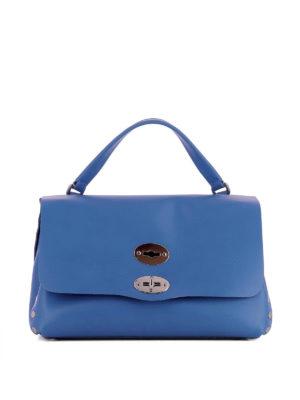 ZANELLATO: shopper - Postina S Original Silk azzurra