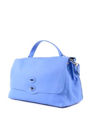 Zanellato: totes bags online - Blue Cachemire Pura large Postina