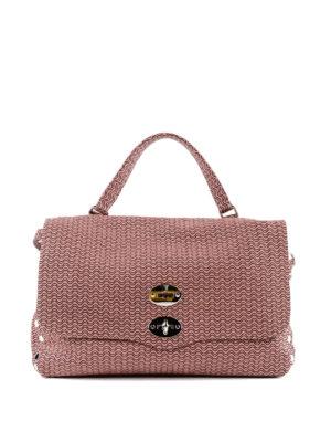 ZANELLATO: shopper - Postina media Arché in pelle rosa bon ton