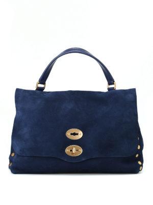 ZANELLATO: shopper - Postina M Jones in nabuk blu