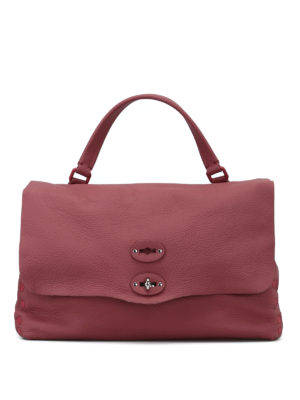 ZANELLATO: shopper - Postina M Linea Pura in pelle rosa d'epoca