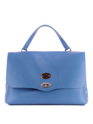 Zanellato: totes bags - Postina M Original Silk sky bag